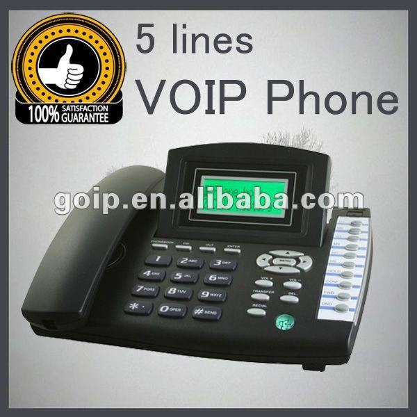 Support Call Center 5 Line VoIP Phone RJ45 China Manufacturer