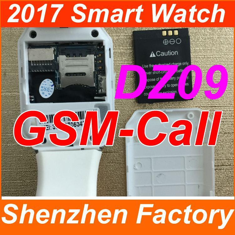 The Most Popular Cheap Lowest Price DZ09 Touch Screen Smart Watch GSM Calling with SIM card slot Mobile watch phone