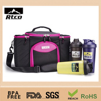 600D Polyester Waterproof Cooler Bag Portable Lunch Bag for Food and Drink