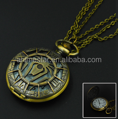 Cosplay Fashion Simple Pocket Watch Spider Man Anime Watch