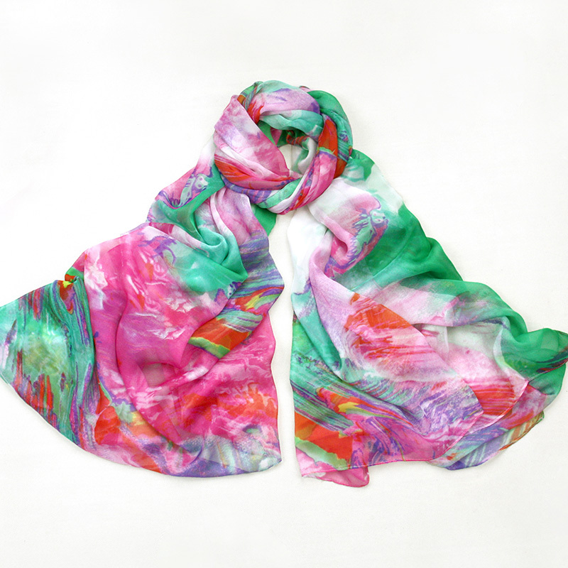 Brand Chiffon Beach Wrap Silk Scarf 200*145cm Oversized Scarves For Women Shawl Cachecol desigual foulard Wholesale PP660AL-C