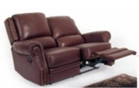 Quality Contemporary Genuine Leather Reclining Loveseat Sofa 611 A