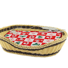 large oval rattan cat basket rattan basket with cushion for home cat