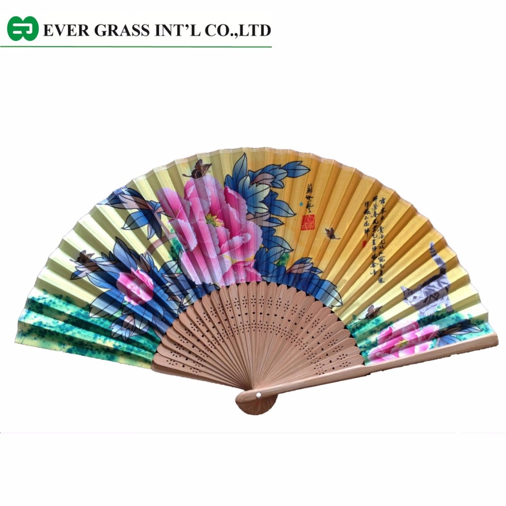 Polyester yarn outdoor sublimation hand fan