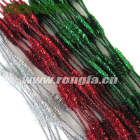 12 inch 4 bumps mixed color christmas decoration chenille stems