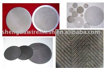 316 stainless steel wire mesh screen discs