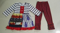 trendy toddler stripes ruffled clothes wholesale children clothing