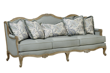 F50206A-1 italian antique style sofa italian wooden carved sofa