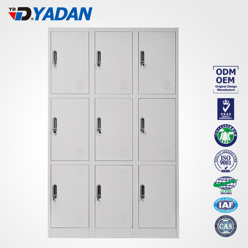 office staff door locker metal locker cabinet 3 tie steel locker