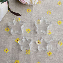 1.7*3.15CM & 1.7*3.8CM Mini Cute Clear Grade A Plastic Star Box/Case/Container