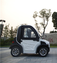 Two Seater Electric Car With Rubber Tires