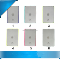 High Quality Crystal Clear Acrylic Soft TPU Hybrid Case Back Cover for iPad Mini 2