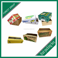 Fancy carton packing packaging cardboard box for fruit and vegetab fruit cardboard boxes for sale