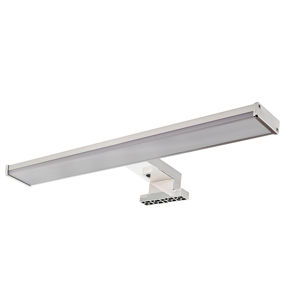 AC 220-240V Polished Chrome Finish IP44 Waterproof Bathroom Mirror Attached Light