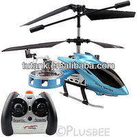 4 Channel RC IR Infrared Remote Gyro Light RTF Avatar Metal Mini Helicopter Blue