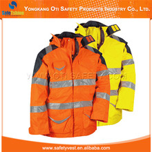 Hot selling high visibility fluorescent Ansi standard safety protective jackets