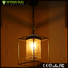 Rural northern American decorative industrial pendant lamp restaurant bar rain bubble bulbs shaped vintage glass pendant light