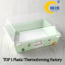 Food grade clamshell plastic containers for ice cream