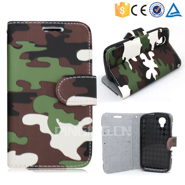 New design cool camouflage leather case for Cherry mobile c200 flip stand cover