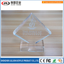 Manufacturer customs clear laser engraved acrylic plaque