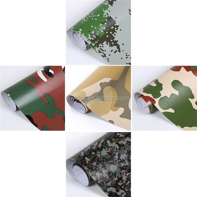 Camo Vinyl Car Wrap Adhesive Urban Camouflage Film for Motorcycle Scooter Vehicle DIY Decal Printed Foil