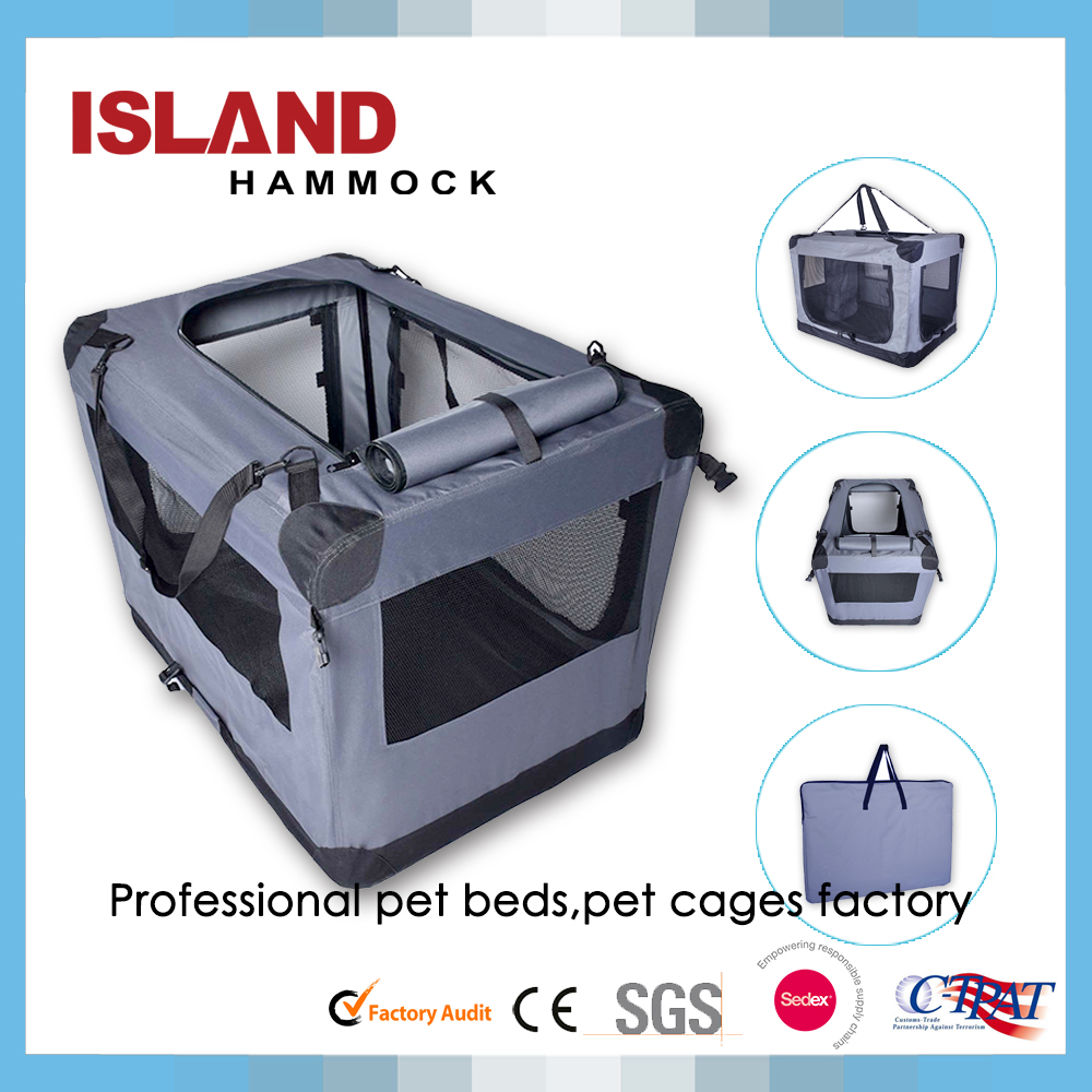 Dog Crate Soft Sided Pet Carrier - Foldable Portable Soft Pet Crate Training Kennel