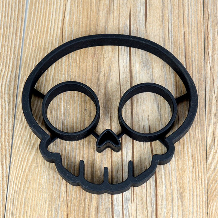 Breakfast Pancake Mold Ring Silicone Skull Egg Fried Frying <strong>Mould</strong>