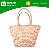 Wholesale Blank Straw Tote Bag Custom Color Beach Bag 2016 Style