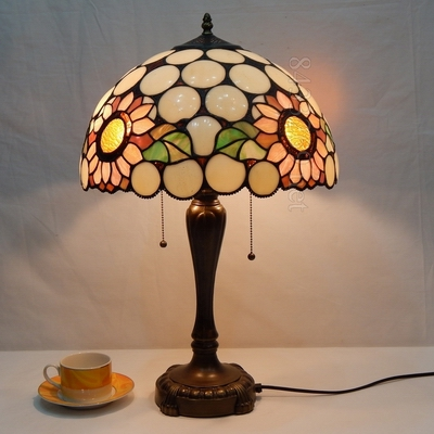 Wholesale dining table lamp online buy best dining table lamp from 16 inch sunflowers tiffany art strongtablestrong strong aloadofball Image collections