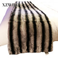 CX-D-128B Home Textile Anti-pilling Thick And Soft Real Rabbit Fur Skin Blanket