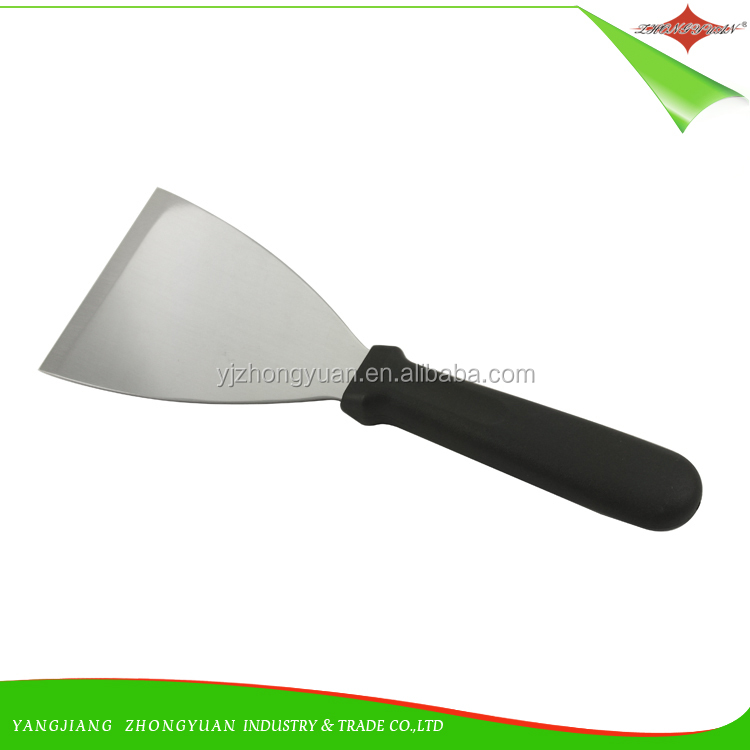 ZY-F1535 Stainless steel slant edge grill scraper putty knife with plastic <strong>handle</strong>