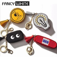 Best China gifts colored small portable pu coin purse leather bag holder keychain
