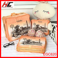 Korea travel combination storage set pouch cheap 3 pcs luggage bags folding set 3 pcs organizer