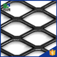 plain steel expanded metal/pvc coated expended metal fence
