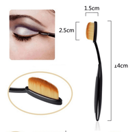 New Arrival10PC/Set Cream Power Blend Beauty Brush Puff Foundation Professional Makeup Brush