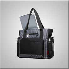 Multifunction Diaper Bag with Fast Finder Pocket System Black Stripe
