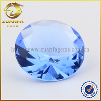 attractive loose blue diamond, synthetic crysatl round no hole beads