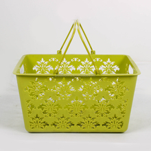 Hot sale PP material H108 Shopping&fruit storage plastic handy fancy basket