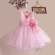Readymade Garments Western Party Wear Lace Baby Girl Prom Dress L10038