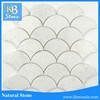 pure natural crystal white fishscale waterjet thassos marble mosaic tile