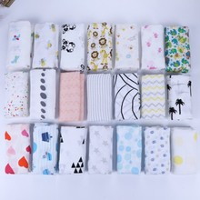 wholesale cheap 100% Cotton2 layer Muslin Baby Blanket Infant Swaddle Blanket