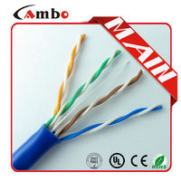 China Supplier 305M 4 Twisted Pair 0.51mm Solid Conductor lan cable cross connection