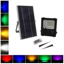 New Waterproof 10W Solar RGBW LED Floodlight in IP65 for Garden Park Light