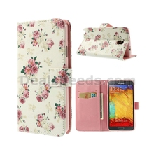 Beautiful Rose Flowers Wallet Leather Stand Case for Samsung Galaxy Note 3 Neo N750 N7502 N7505