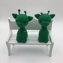 Wholsesale Baby Crochet Amigurumi Stuffed Toys Handmade Organic Cotton Yarn Knitted Giraffe Toy