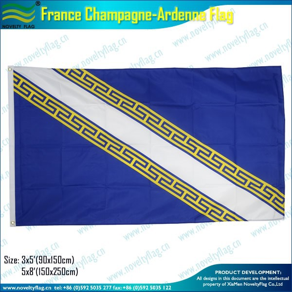 3x5ft 100D polyester France Champagne-Ardenne Flag