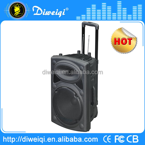 150W active portable speaker with trolley and wheels