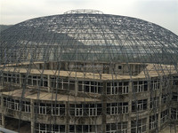 Gymnasium steel grid structure roof
