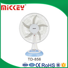 16 inches AC DC 12V Emergency Rechargeable Table Fan with light TD-856