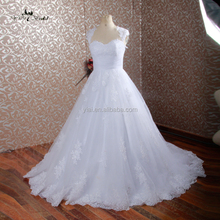 J--0018 free prom gowns elegant sweet heart pleat sleeveless real picture good seller lace backTransparent wedding dress